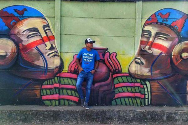Puro Latino fresque tee shirt bleu