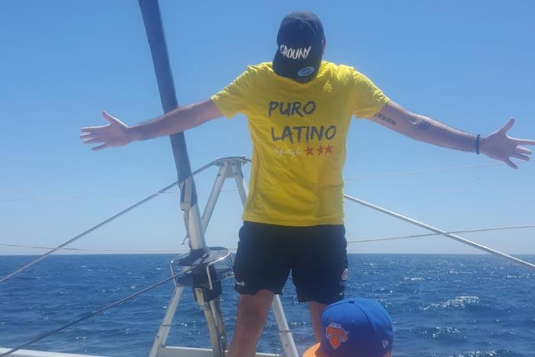 Puro Latino man tee shirt yellow
