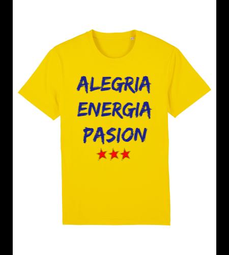 tshirt puro latino alegria energia pasion jaune