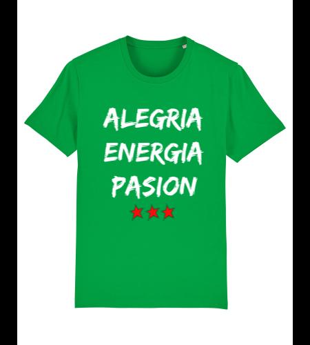 tshirt puro latino alegria energia pasion vert