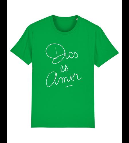 tshirt puro latino dios es amor vert