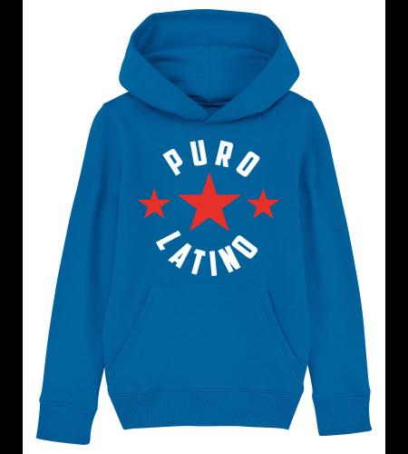 sweat puro latino capuche bleu étoile