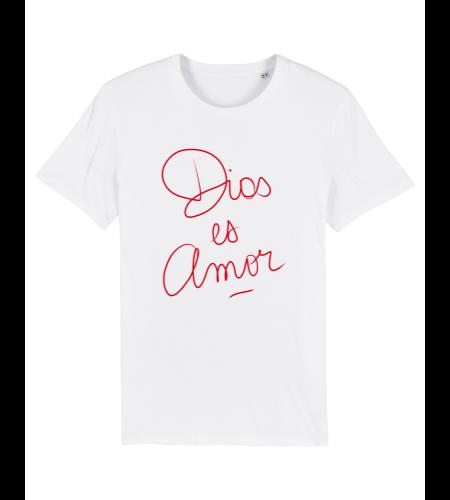 tshirt puro latino dios es amor blanc