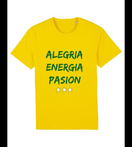 tshirt puro latino alegria energia pasion jaune vert