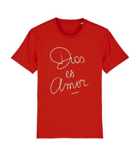 tshirt puro latino dios es amor rouge