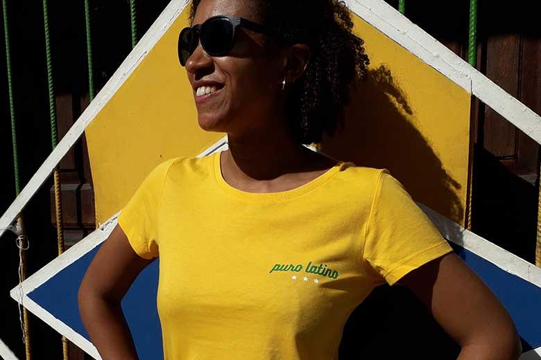style puro latino tshirt femme jaune